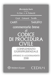 978-8813-368722 Comm. Procedura Civile Appendice Esame