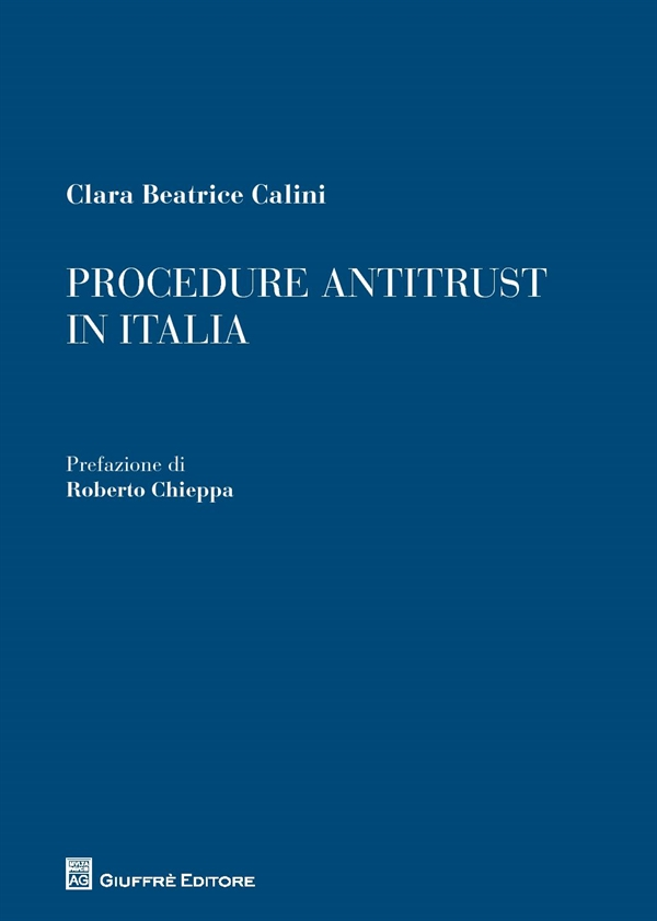 978-8814-228421 Calini Procedure Antitrust In Italia