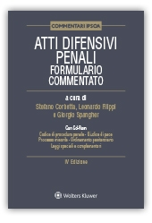978-88217-70159 Atti Difensivi Penali Form. Commentato